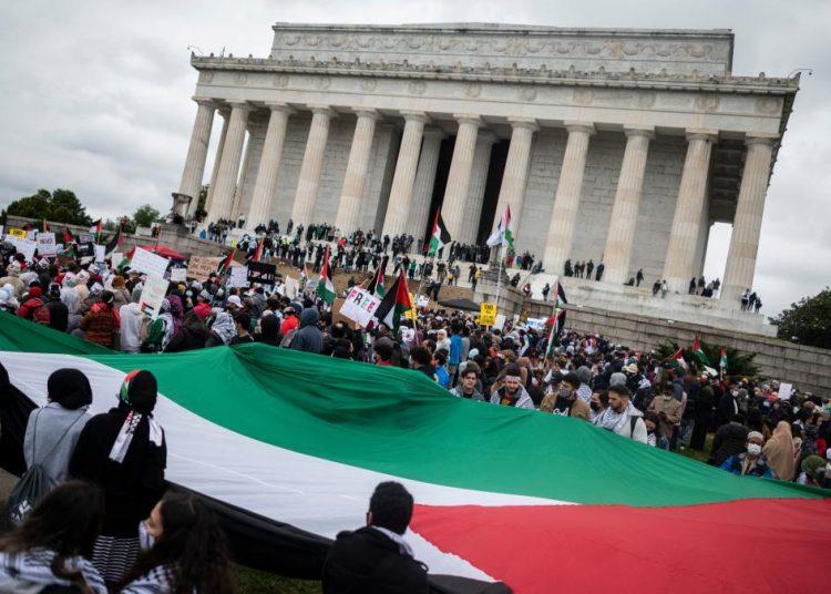 Gelar Demonstrasi Pro-Palestina, Warga Washington Minta Diakhirnya Bantuan AS ke 'Israel'