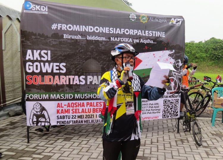 'Gowes Solidaritas Palestina'; Dari AQSHA untuk AQSHA